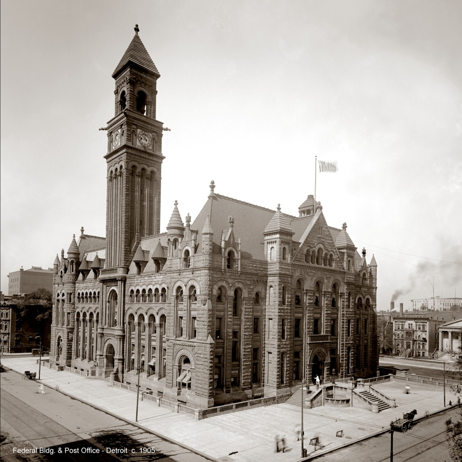 Historic Photographs Post Office / Federal Bldg. - Detroit ca. 1900