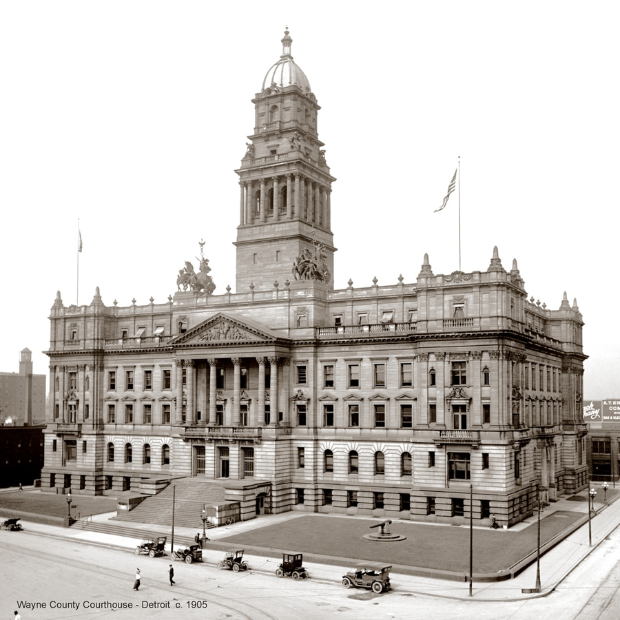 Historic Photographs Wayne County Courthouse - Detroit ca. 1905