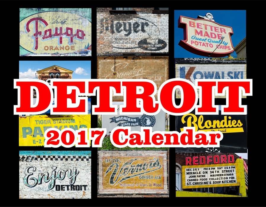 James C. Ritchie Photographic Art 2017 Detroit Calendar