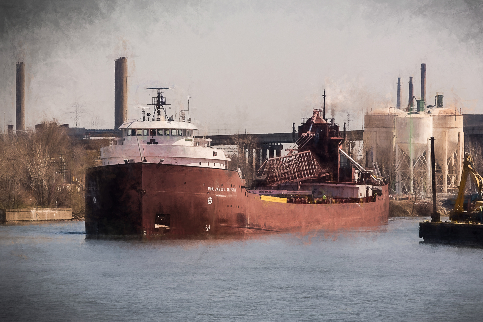 Detroit River Hon. James L. Oberstar at Dix Bridge