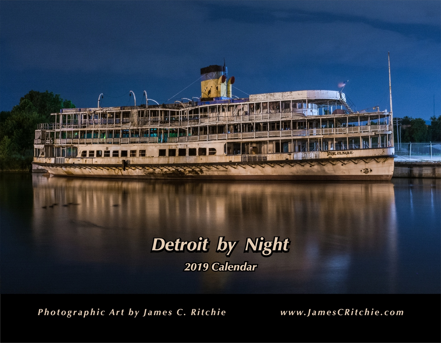 Bob-Lo Detroit By Night Twelve Month Calendar - BOGO!