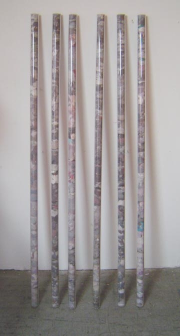 assemblages & sculptures Lint in plastic tubes