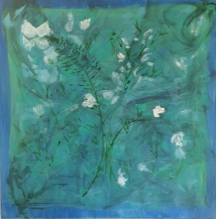 Jane Coder Floral Work acrylic on canvas