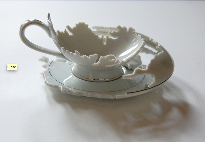 Jane Deering Gallery Elizabeth Alexander Hand-cut porcelain china