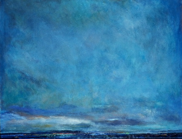 Jane Deering Gallery Exhibition: Blue arrived, and its time was painted Oil on canvas