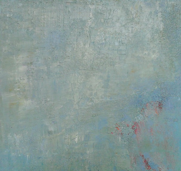 Jane Deering Gallery Exhibition: Blue arrived, and its time was painted Oils, copper pigment, silica sand