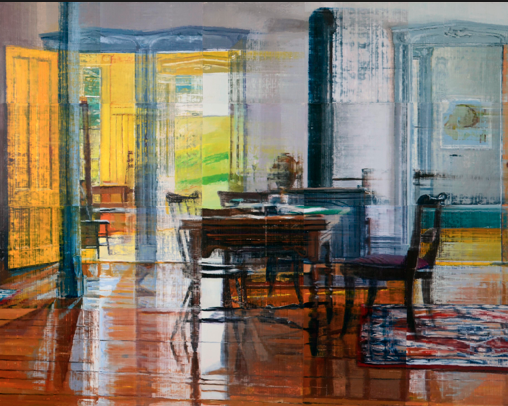 Jane Deering Gallery Exhibition: A light runs through it Oil on canvas