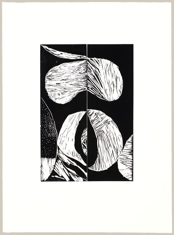 Jane Deering Gallery Geoffrey Bayliss Linocut print . Edition of 6