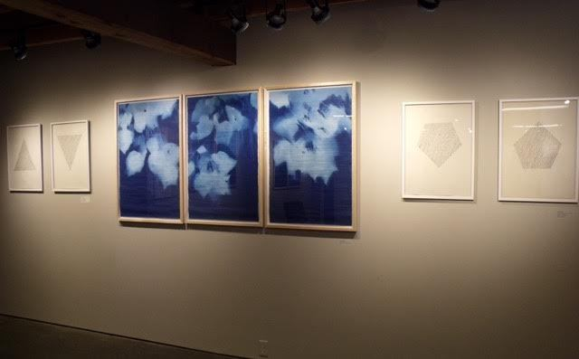 Jane Deering Gallery True Blue, and Black | Alternative Photography : Tom Fels & Gail Pine Cyanotype triptych and graphite drawings