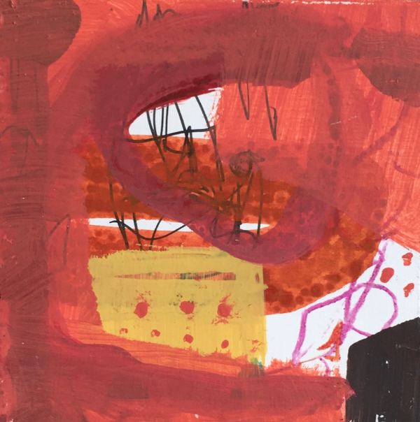Jane Deering Gallery Juni Van Dyke | Painting is music you can see Acrylic and mixed media on panel