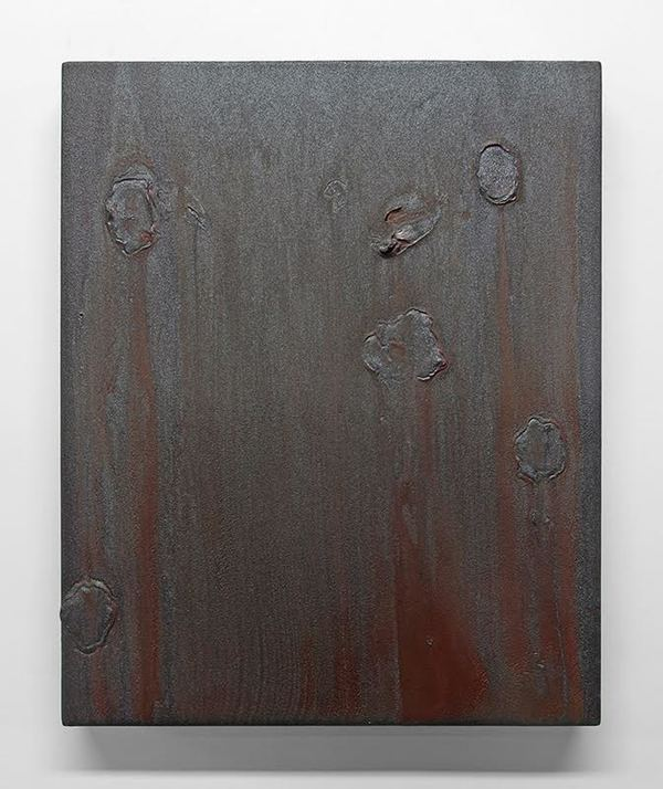 Jane Deering Gallery Mary Bucci McCoy | Terra Recognita  Acrylic and micaceous iron oxide on panel