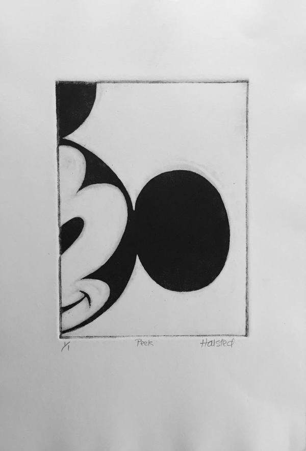 Jane Deering Gallery Joy Halsted | In and Out of the Box Etching . Ed 1/1