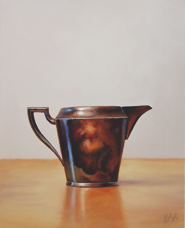 Jane Deering Gallery Silver and Grey | Leslie Lewis Sigler & Paul Cary Goldberg Oil on panel