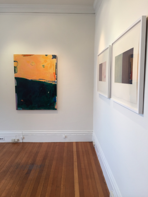 Jane Deering Gallery Selection of works Painting: Acrylic on canvas; pair of framed pastel drawings