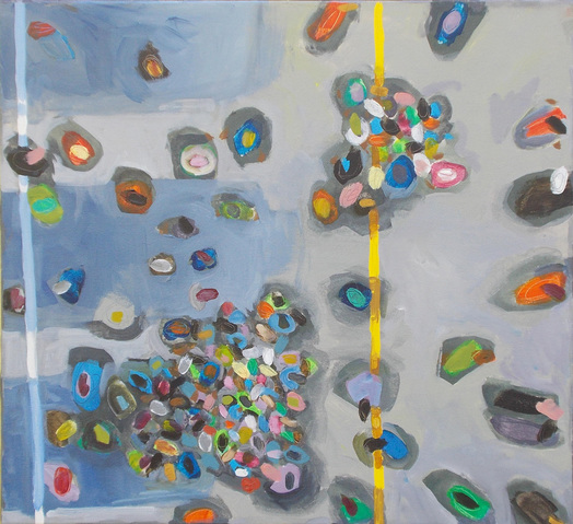 Jane Deering Gallery Miranda Updike | Colors of the Crowd Acrylic on canvas