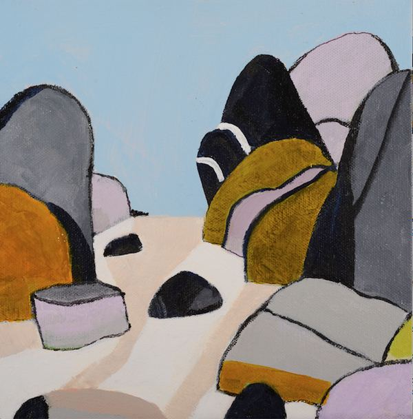 Jane Deering Gallery Pia Juhl | Rocks Around the Cape Acrylic on canvas