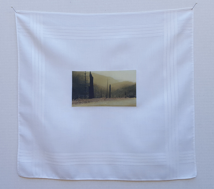 Jane Deering Gallery A Turning Point | the contemporary landscape Transfer image on handkerchief