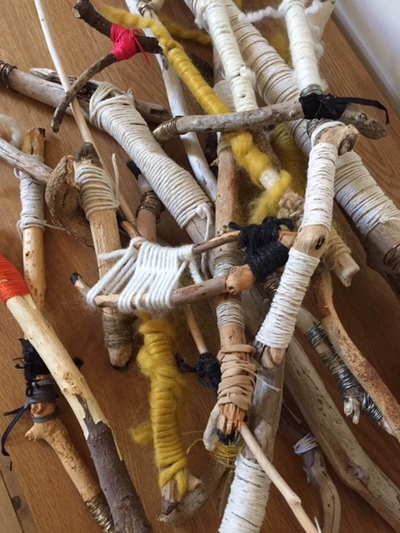 Jane Deering Gallery Gail Barker | Art as Process Sticks, yarn, twine, wire