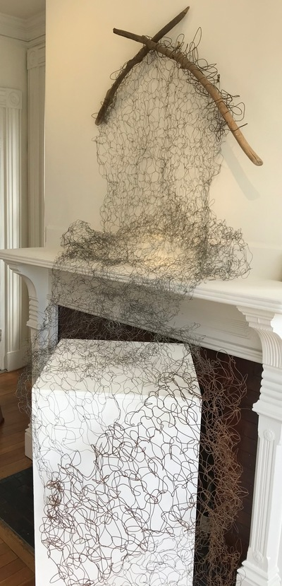 Jane Deering Gallery Gail Barker | Art as Process Knitted wire of various gauge, driftwood
