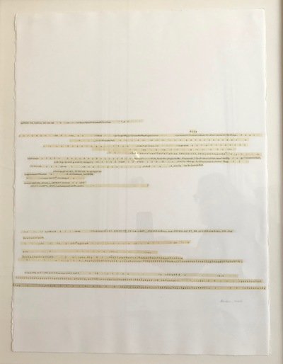 Jane Deering Gallery Gail Barker | Art as Process Typewriter correcting tape on paper