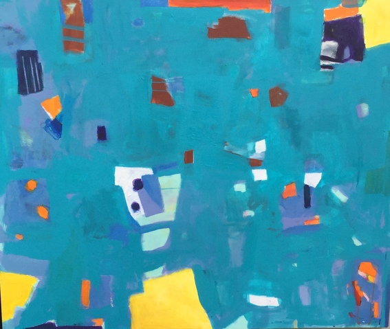 Jane Deering Gallery Juni Van Dyke | The Journey ... then and now Acrylic on canvas