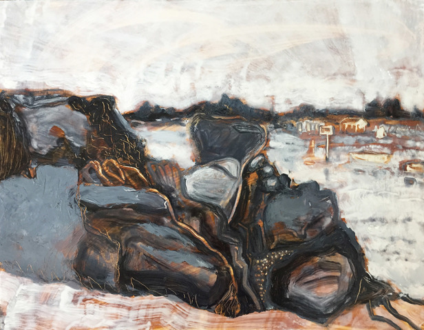 Jane Deering Gallery Amy Robson | Keep Looking Oil on board