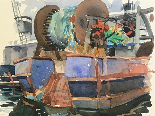 Jane Deering Gallery Gloucester, Cape Ann | of time and place Watercolor