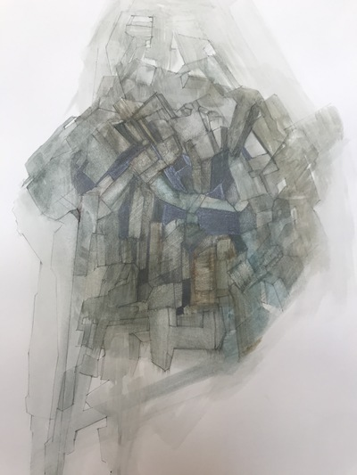 Jane Deering Gallery Gloucester, Cape Ann | of time and place Watercolor, pencil and crayon on paper