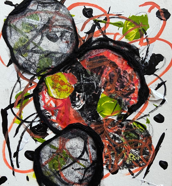 Jane Deering Gallery Awry | Just Breathe Mixed media on paper
