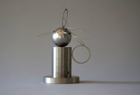 Jane Deering Gallery Alice Hutchins Steel ball bearing, plated steel rings, Alnico magnet