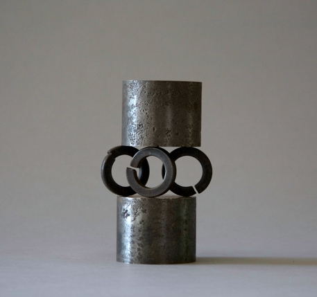 Jane Deering Gallery Alice Hutchins Iron rings, Alnico magnets