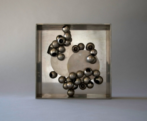 Jane Deering Gallery Alice Hutchins Plated steel, steel knobs, ferrite magnet