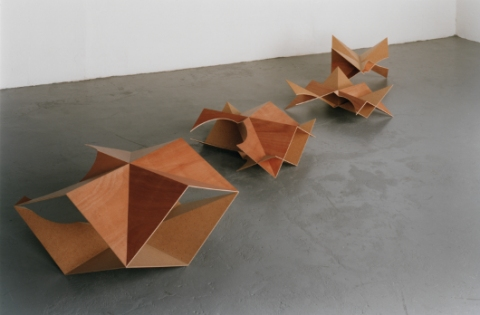 Jane Deering Gallery Birgit Faustmann Plywood, punched masonite