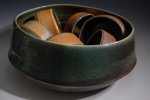 Jane Deering Gallery Exhibition:  Ceramics . 'A Thousand Hours' Thrown and altered, glazed porcelain