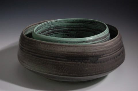 Jane Deering Gallery Exhibition:  Ceramics . 'A Thousand Hours' Thrown and altered, glazed white stoneware