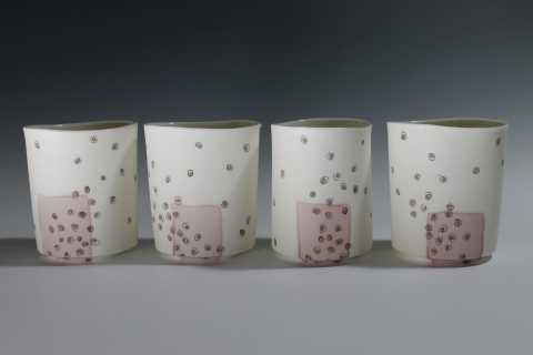 Jane Deering Gallery Exhibition:  Ceramics . 'A Thousand Hours' Cone 6 Porcelain, soluble salts