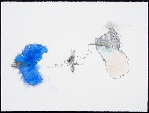 Jane Deering Gallery Exhibition: The Land Has Many Parts . selected images Mixed media on paper