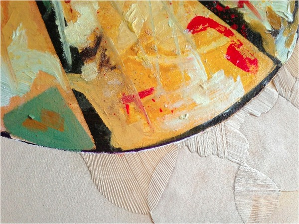 Jane Deering Gallery Exhibition: The Land Has Many Parts . selected images Oil on canvas + embroidery on canvas