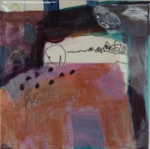 Jane Deering Gallery Juni Van Dyke Mixed media on panel