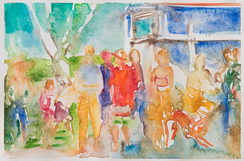 Jane Deering Gallery Chris Baker Watercolor on paper