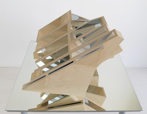 Jane Deering Gallery Birgit Faustmann Wood, mirrored plexiglas