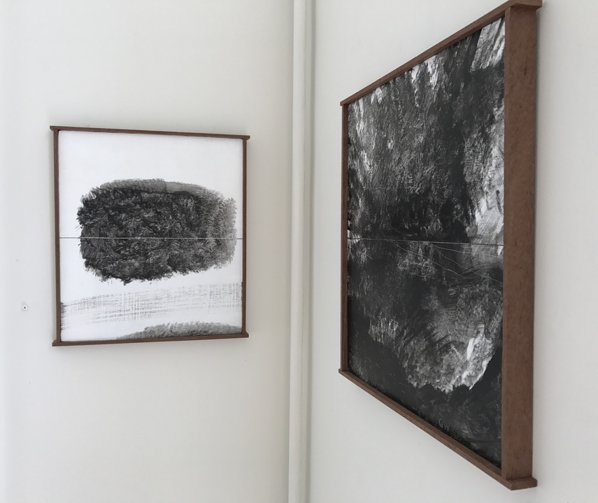 Jane Deering Gallery Archived Exhibitions Installation shot . Left: A Sense of and Ending;  Right: Stillness