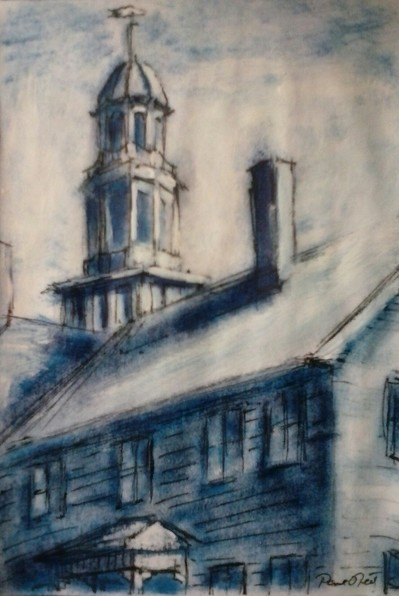 Paul Neily-- Gloucester Blue Pine Street, Unitarian Church