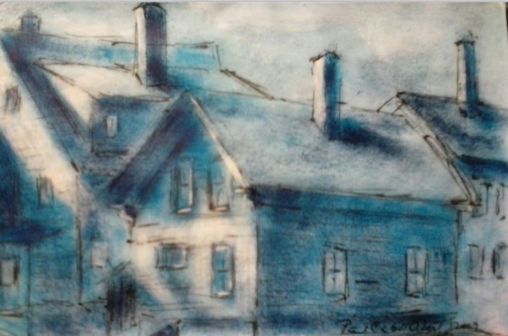 Paul Neily-- Gloucester Blue Railroad Avenue