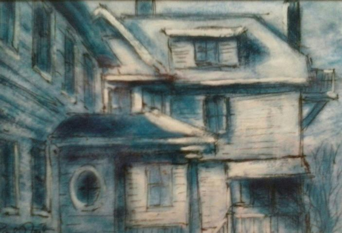 Paul Neily-- Gloucester Blue Corner of Middle and Short Streets