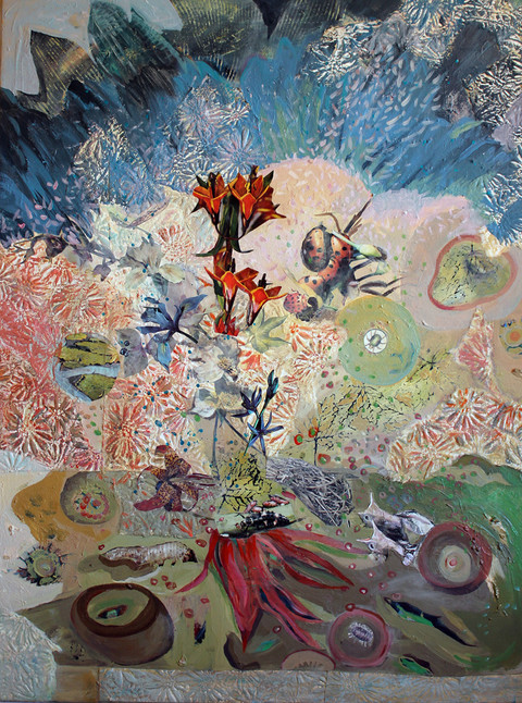 Large Paintings on canvas & paper acrylic, paper, photo/collage on canvas