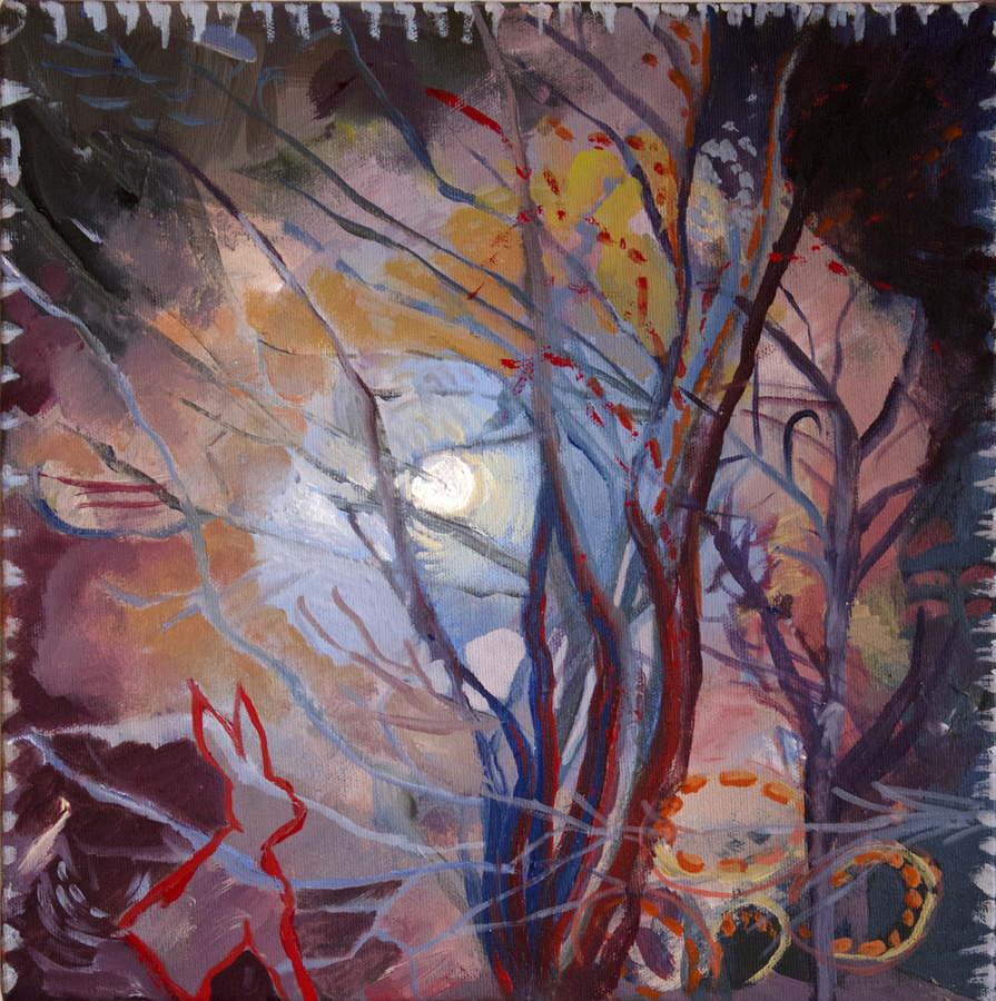 Large Paintings on canvas & paper Waxing Gibbous