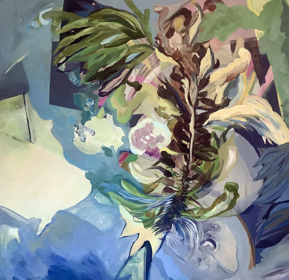 Large Paintings on canvas & paper Nano Kelp