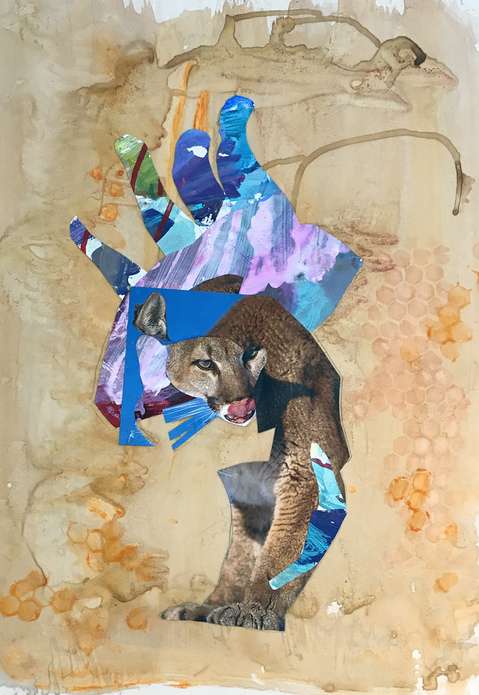 Mixed Media on Mylar /wood What About Cats?
