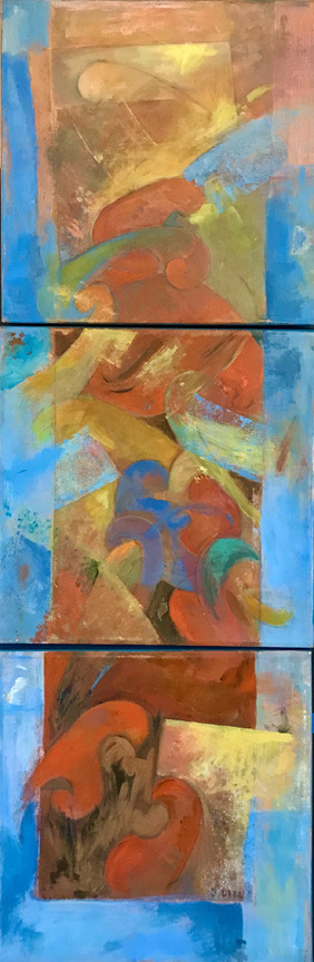 Small Works On Line 3 (triptych)